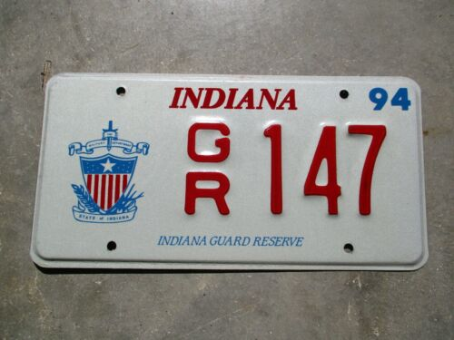 Indiana 1994 Guard Reserve license plate #  147
