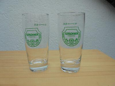 2 Biergläser Iserlohner Pilsner ohne Orginal Karton, 0,2 ltr ()