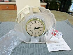 Fifth Avenue Crystal Clock Narcissus 5-1/2 NIB-2 New Battery THIS WEEKONLY!