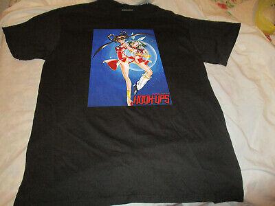 Vintage Hook Ups 90s Skateboards  Devil-Hunter-Yohko  Anime T-Shirt reprint