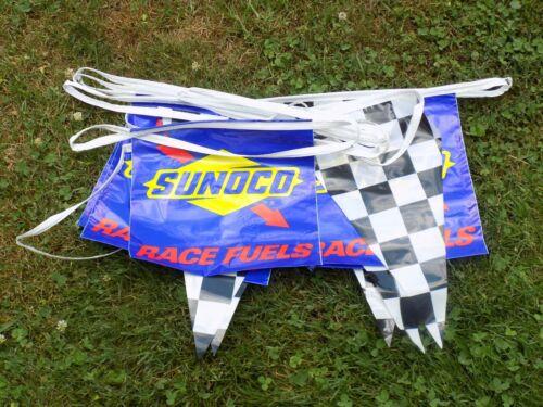 Vintage Sunoco Race Pennant String.
