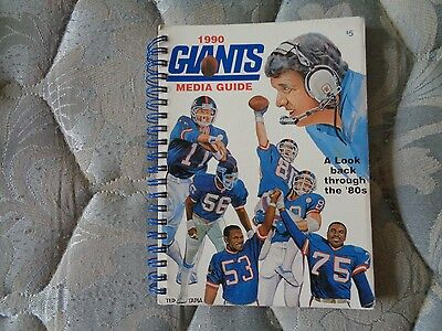 1990 New York Giants Media Guide Yearbook 1991 Nfl Super Bowl Champion   Ny Ad