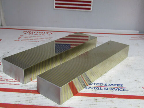 2Pcs. Magnetic Transfer Blocks, Brass and Steel,Surface Grinding,Toolmaker