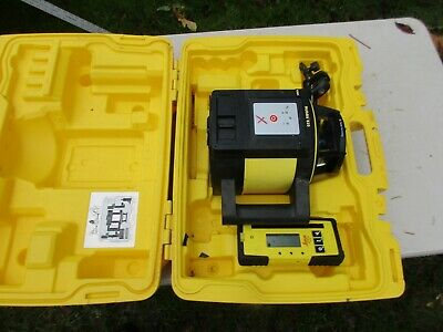 Leica Rugby 810 Rotating Laser Level With Rod Eye 140 In Case Works Great