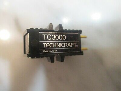 AUDIO TECHNICA TECHNICRAFT TC3000 CARTRIDGE & GENUINE TECHNICRAFT TCN3000 STYLUS, used for sale  Shipping to India