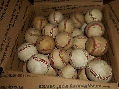 33 Used Baseballs BP Batting Practice Balls Major Brands Rawlings Baden Diamond