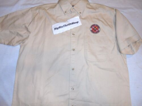 Vintage Southwest Airlines Ground Support Employee Shirt Button size Large Adult