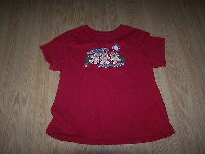 Used Womens Winter Decorated Red Short Sleeve T-Shirt   Size XXLarge (Decoration Womens Winter Shorts)
