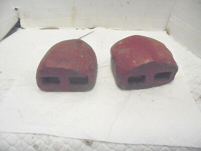2 15 Pound Iron Tractor Wheel Weights Farmall International Harvester Red