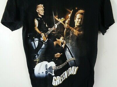 green day shirt small band live black
