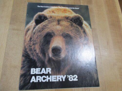 Bear Archery 1982  Catalog Brochure  Original   (w2)