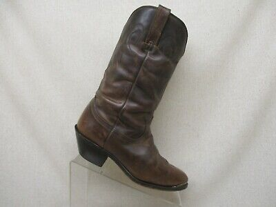 DURANGO Brown Leather Slouch Cowboy Western Boots Womens Size 7.5 M Style RD542 ()