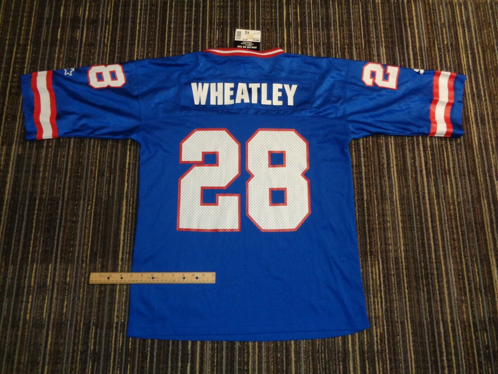 NWT TYRONE WHEATLEY 28 NY NEW YORK GIANTS STARTER NFL GAME FOOTBALL JERSEY MD  - $39.99