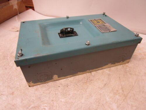SQUARE D FA-100-S ELECTRICAL ENCLOSURE W/ 50 AMP BREAKER