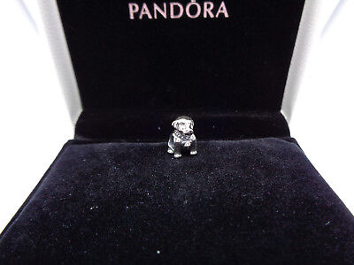 Usado, Pandora Sterling Silver Labrador Puppy S925 ALE 791379CZ segunda mano  Embacar hacia Spain