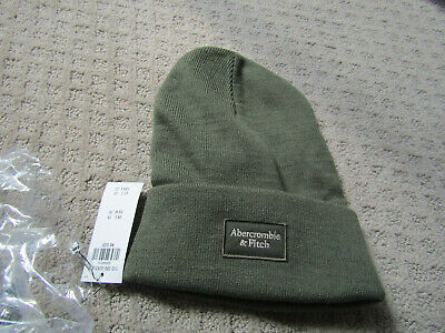 NWT   Abercrombie mens/  womens Hat Beanie olive