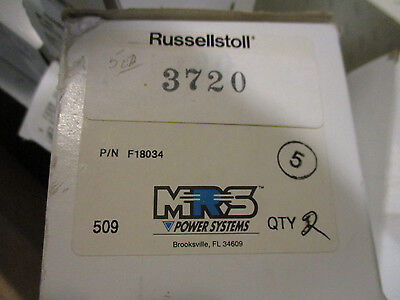 Russellstoll 3720 Box Of 3 20 Amp 250 Volt Pin Sleeve Plug- New- Ps56