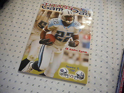 Tennessee Titans Indianapolis Colts 2002 Program Book Andre Dyson