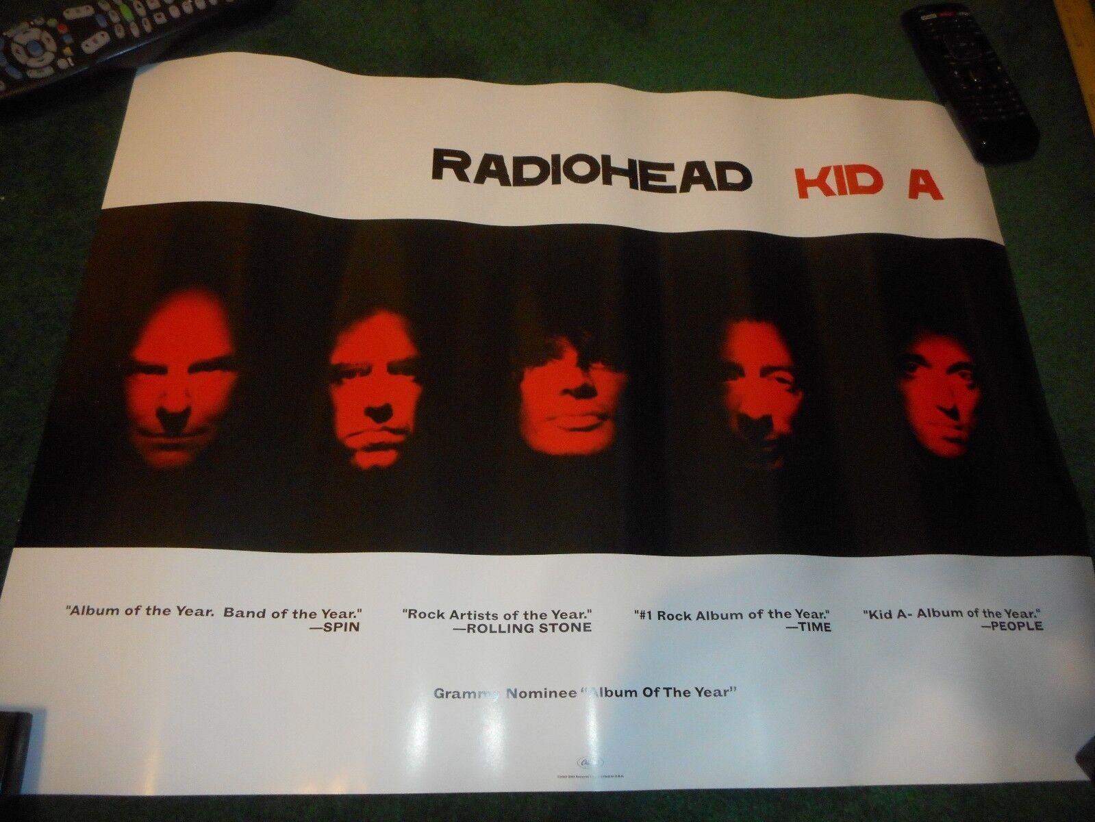RADIOHEAD - KID A - ORIGINAL DS RECORD PROMO POSTER 1 - 18 X 24  - $35.00