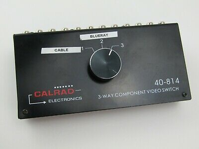 Black Calrad Electronics 40-814 3 Way Component Video -