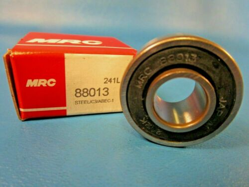 "MRC 88013 Wide Inner Ring Bearing, 13 mm ID x 32 mm OD x 0.606"" W, Double Seals"
