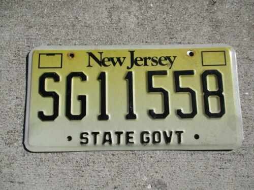 New jersey State license plate #    SG 11558