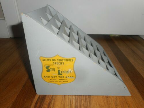 Vintage STRY LENKOFF Laundry Dry Cleaners Tag Tickets Advertising Display Rack