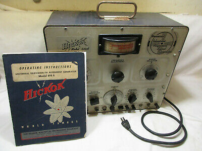 Hickok Model 610a Universal Fm And Television Alignment Signal Generator Manual