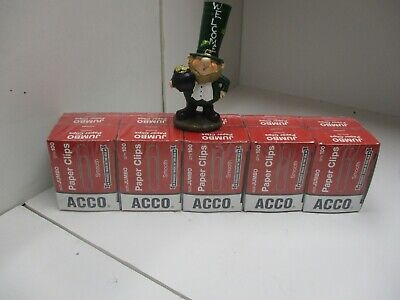 Sale Lot Of 1000 Acco Smooth Standard Paper Clips Jumbo Silver 100box10bx