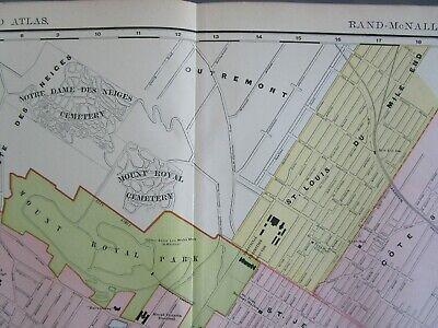XXL 1904 MONTREAL Wall Map 1900s Map Art Print Decor CANADA. St HENRI, HOCHELAGA - $27.50