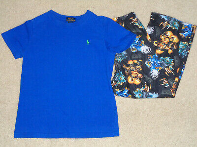 Polo & SkyLanders Pajamas PJ's Sleepwear Shirt Pants 2 Pc Set Outfit Size 6/7 - Skylander Outfits