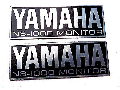 Yamaha NS-1000M NS1000M speakers badges metal stainless steel stick on for sale  Shipping to India