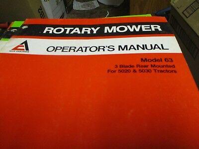 Allis Chalmers Model 63 3 Blade Rotary Mower Operators Manual 5020 5030