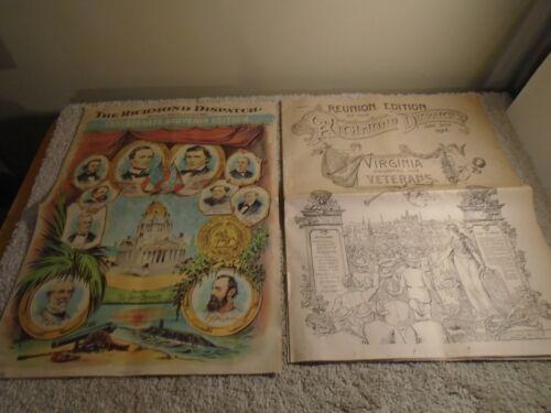 The Richmond Dispatch Confederate Souvenir Reproduction UCV Reunion & Newspapers