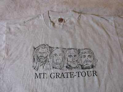 MT GRATE-TOUR GRATEFUL DEAD NEW SPEEDWAY BOOGIE LYRIC VINTAGE 1980's T-SHIRT-XL