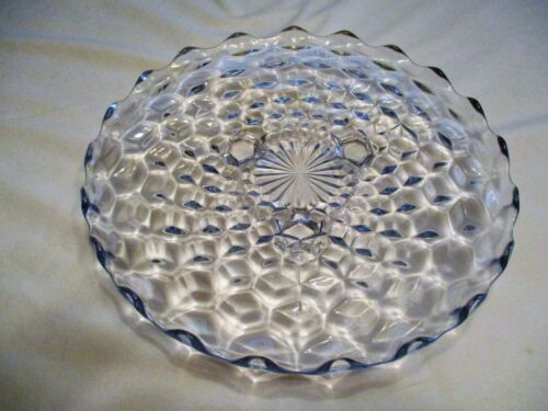 """Vintage Fostoria Cake Plate American Pattern Footed 12"""" Round"""