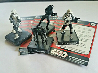STAR WARS MINIATURES - Lot - Storm Commando 33/60 Rare Squad - Free Shipping!!