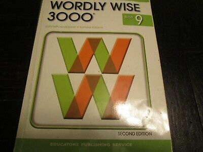 WORDLY WISE 3000 Workbook (5 Lessons used) Test Booklet and Answer Key - Book 9