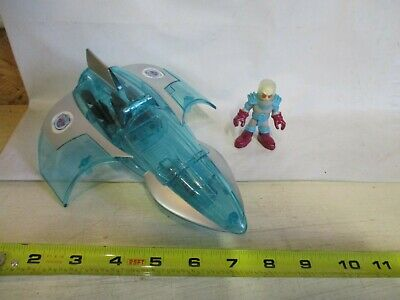 Fisher Price Imaginext DC Mr. Freeze Jet airplane frozen Victor Cold villain lot