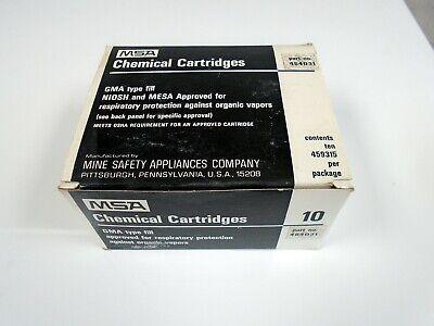 Msa Chemical Mask Cartridges 464031 10 Pack
