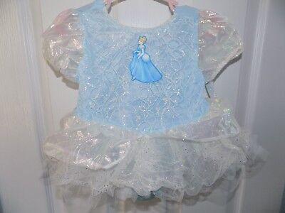 NWT Disney Store 18-24 M Princess Cinderella Baby Costume Bodysuit NEW (Disney Baby Cinderella Costume)