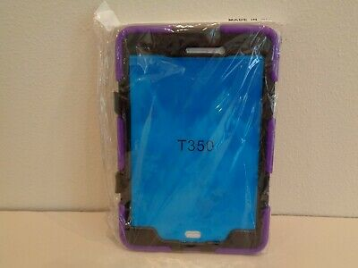 Samsung Tab A T350 New Purple Black Cover With Stand, used for sale  Shipping to India