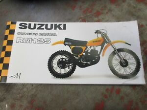 New Suzuki RM125  owners manual  1975  rm125m
