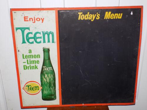 Teem Lemon Lime Drink Metal Embossed Chalkboard Sign