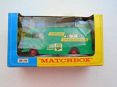 Vintage Matchbox King Size Racing Car Transporter  K5/ with box