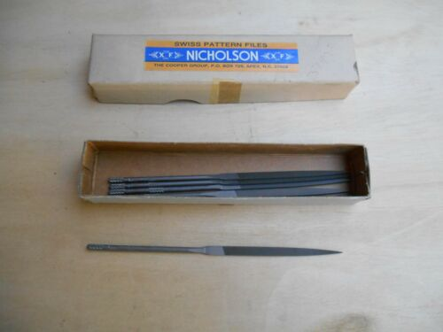 "Nicholson swiss pattern jewelers file 2 1/2"" cut 0 NOS, price is for 1"