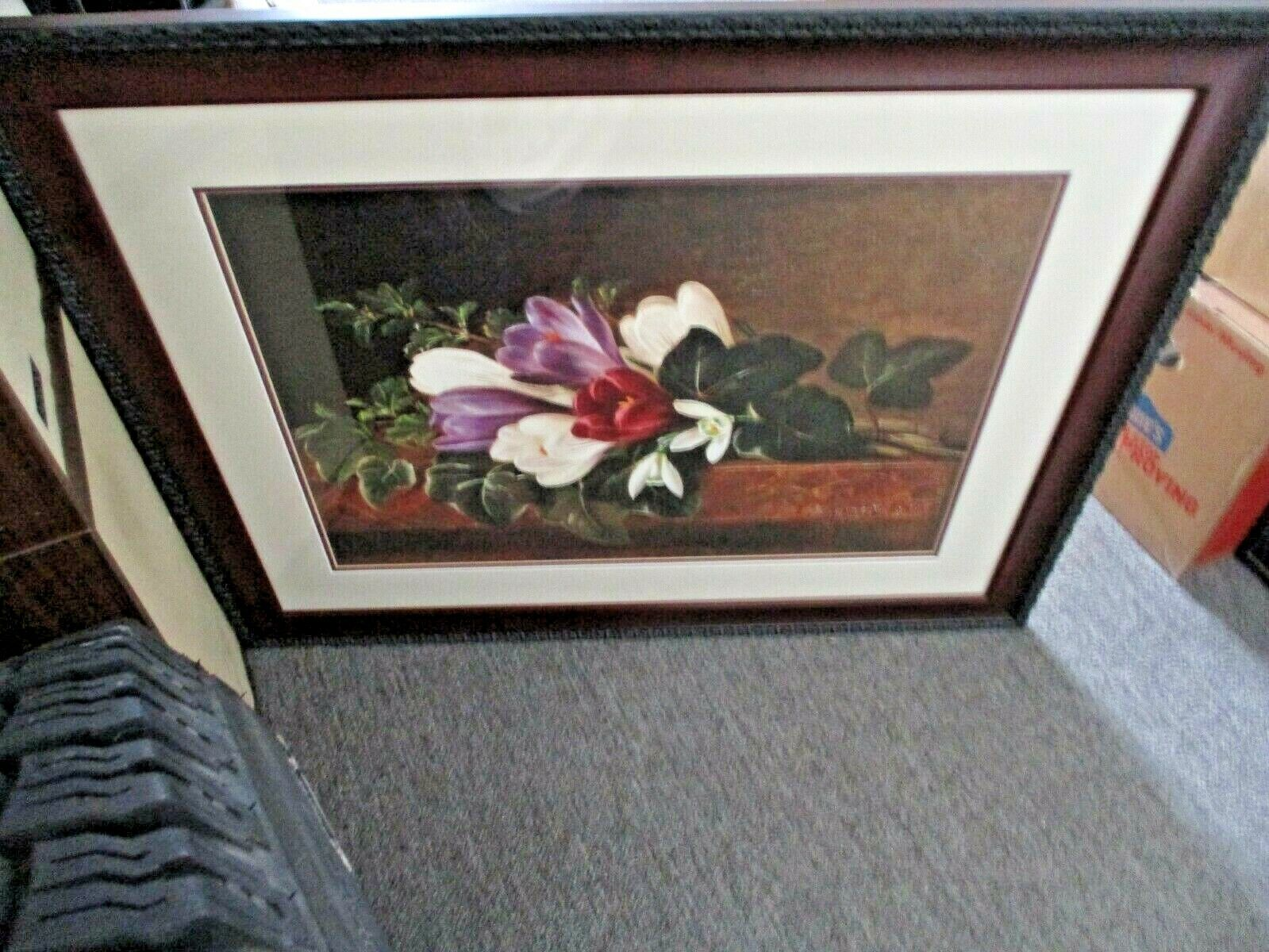 Johan Laurentz Jensen 1841, Oil on Canvas, Signed by Artist, Cherry Frame w/Mat