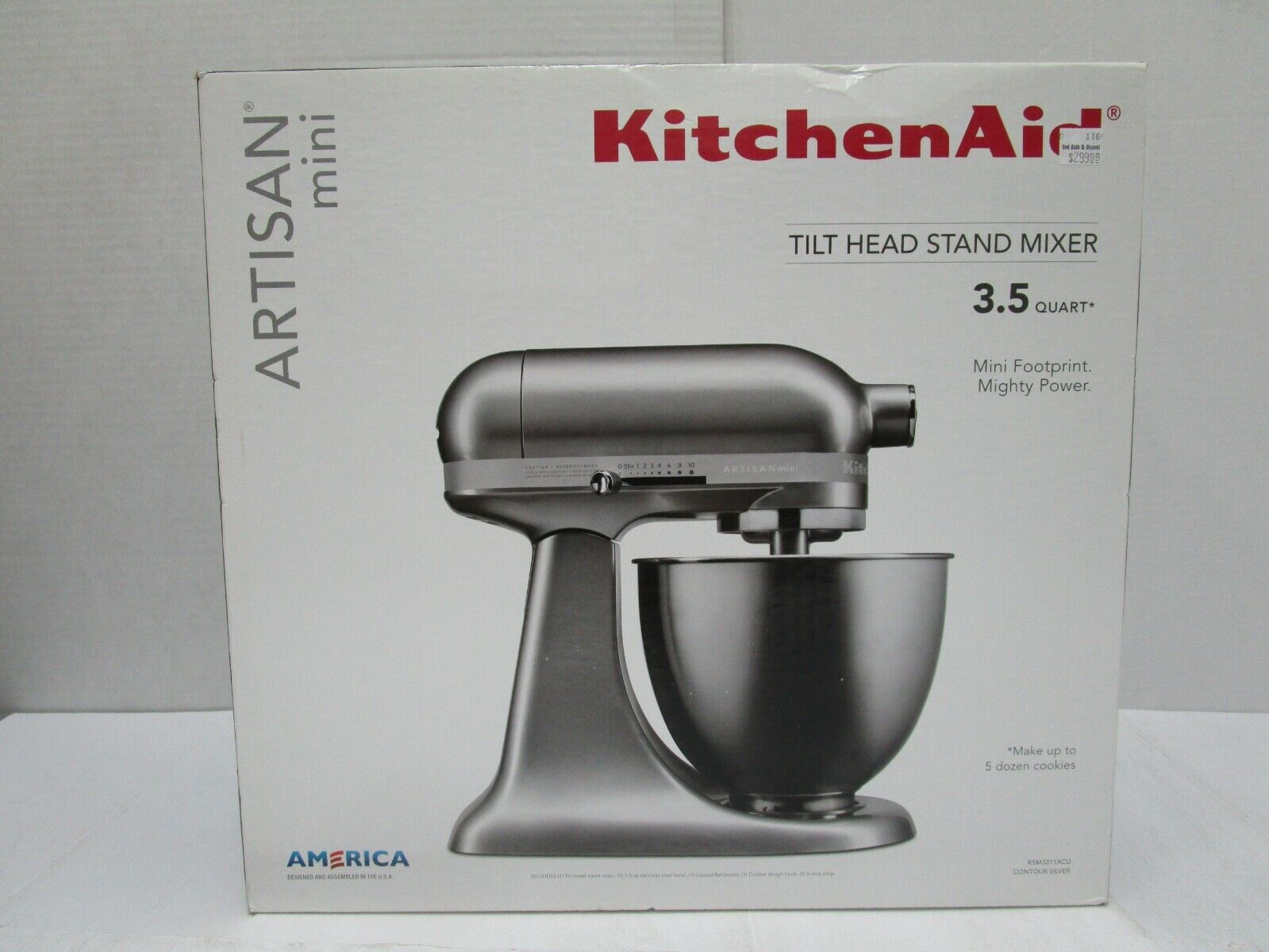 NEW KITCHENAID ARTISAN MINI TILT HEAD STAND MIXER 3.5 QT CON