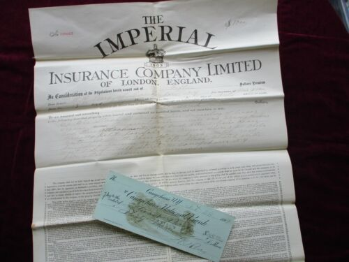 1893 H.G. Perry Canajoharie,Musical Instruments/Mill St., signed Check,Document!