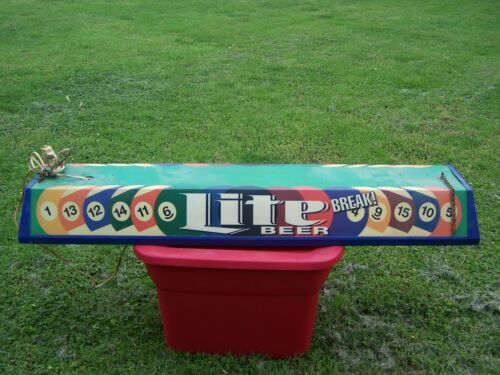 Miller Lite Pool Table Light Billiard Rare Style 49 inches
